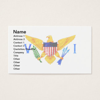 US VIRGIN ISLANDS FLAG BUSINESS CARD