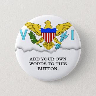 US Virgin Islands flag Button