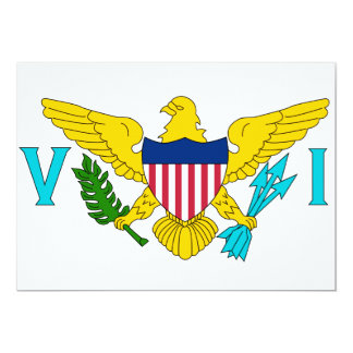 US Virgin Islands Flag Card