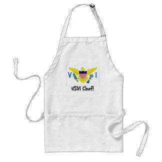 US Virgin Islands flag chef apron