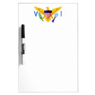 US VIRGIN ISLANDS FLAG DRY ERASE BOARD