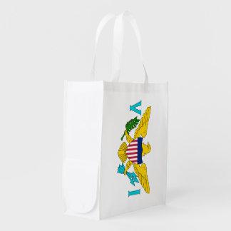 US Virgin Islands Flag Grocery Bag
