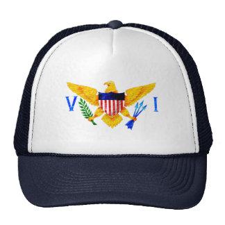 US VIRGIN ISLANDS FLAG TRUCKER HAT