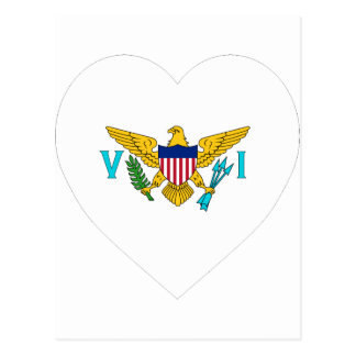US Virgin Islands Flag Heart Postcard
