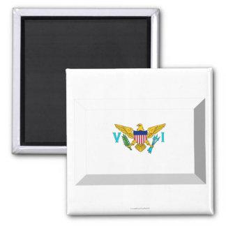 US VIrgin Islands Flag Jewel 2 Inch Square Magnet