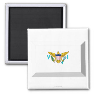 US VIrgin Islands Flag Jewel Magnet