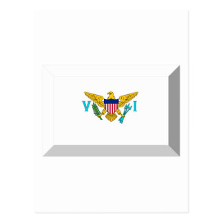 US VIrgin Islands Flag Jewel Postcard