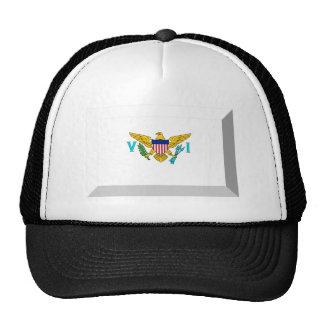 US VIrgin Islands Flag Jewel Trucker Hat