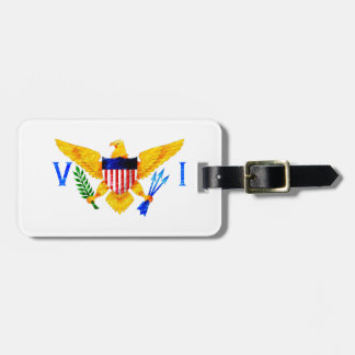 US VIRGIN ISLANDS FLAG TAGS FOR LUGGAGE