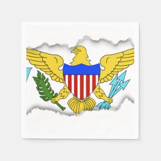 US Virgin Islands flag Paper Napkin