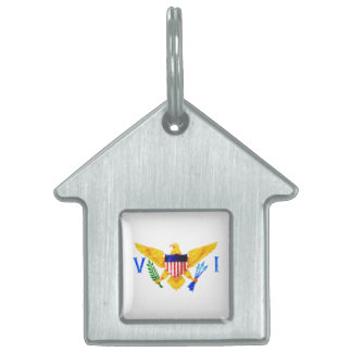 US VIRGIN ISLANDS FLAG PET NAME TAG