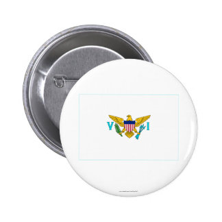 US Virgin Islands Flag Pinback Button