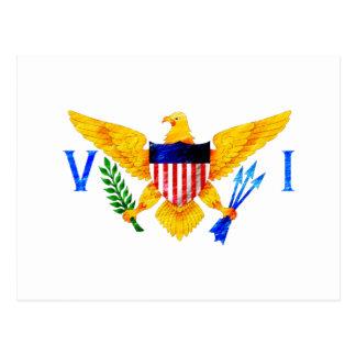 US VIRGIN ISLANDS FLAG POST CARDS