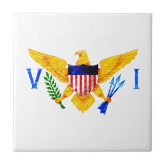 US VIRGIN ISLANDS FLAG SMALL SQUARE TILE