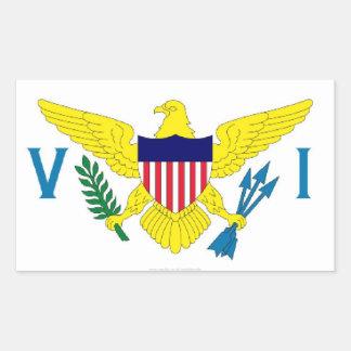 US Virgin Islands flag sticker