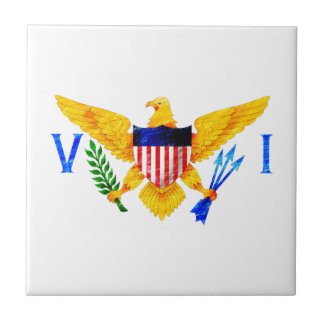 US VIRGIN ISLANDS FLAG TILE