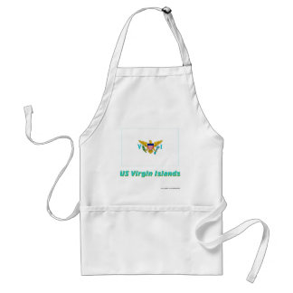 US Virgin Islands Flag with Name Apron