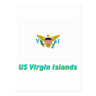US Virgin Islands Flag with Name Postcard