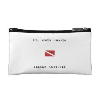 US Virgin Islands Lesser Antilles Scuba Dive Flag Makeup Bag