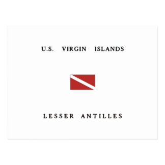 US Virgin Islands Lesser Antilles Scuba Dive Flag Postcard