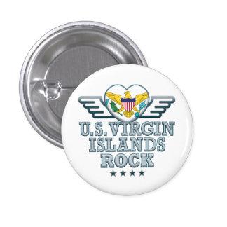 US Virgin Islands Rock v2 Pinback Buttons