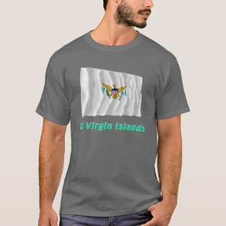 US Virgin Islands Waving Flag with Name T-Shirt