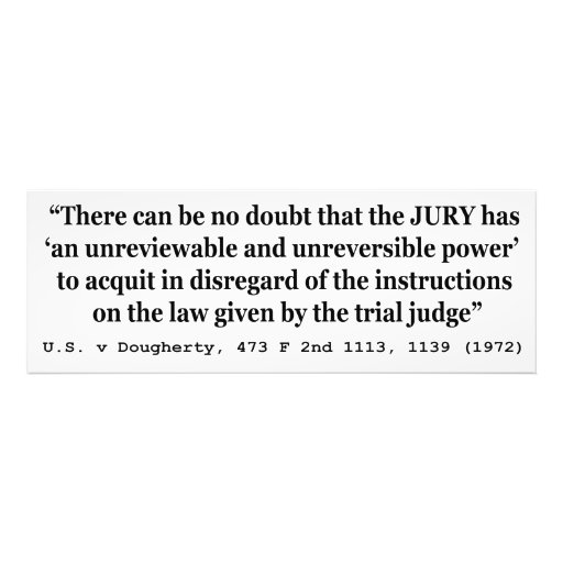 US vs Dougherty 473 F 2nd 1113 1139 1972 Photographic Print