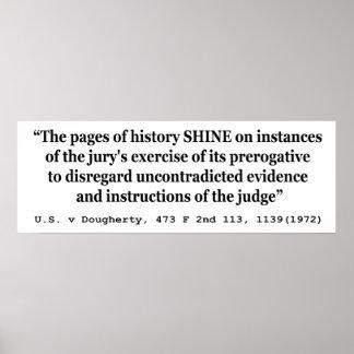US vs Dougherty 473 F 2nd 1113 1139 1972 Shine Poster
