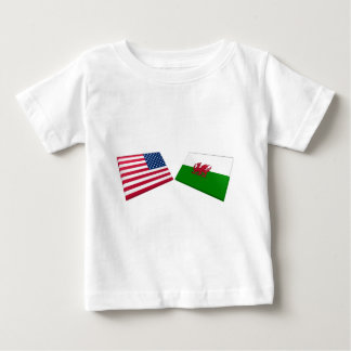 US & Wales Flags Baby T-Shirt