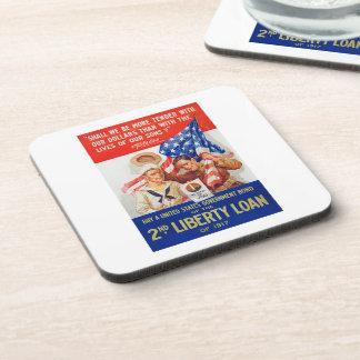 US War Bonds 2nd Liberty Loan 1917 WWI Propaganda Beverage Coaster