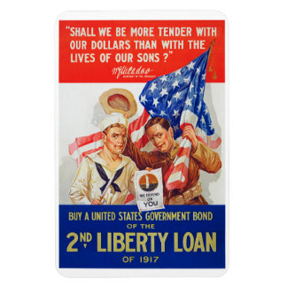 US War Bonds 2nd Liberty Loan 1917 WWI Propaganda Magnet