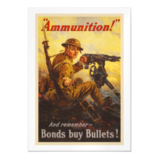 US War Bonds Ammunition WWI Propaganda Magnetic Card