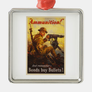 US War Bonds Ammunition WWI Propaganda Metal Ornament