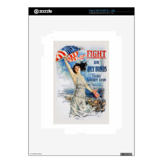 US War Bonds Fight Buy Third Liberty Loan WWI Decal For The iPad 2