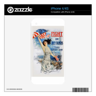 US War Bonds Fight Buy Third Liberty Loan WWI iPhone 4 Decal