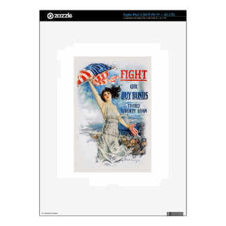 US War Bonds Fight Buy Third Liberty Loan WWI Skins For iPad 3
