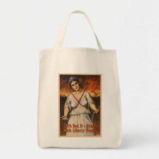 US War Bonds Let's End It Quick WWI Propaganda Tote Bag