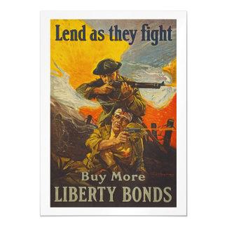 US War Bonds Liberty Lend Fight WWI Propaganda Magnetic Card