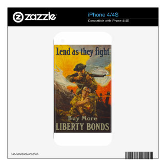 US War Bonds Liberty Lend Fight WWI Propaganda Skin For The iPhone 4