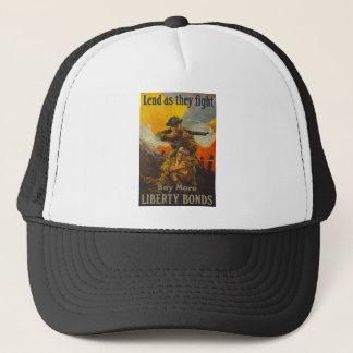 US War Bonds Liberty Lend Fight WWI Propaganda Trucker Hat
