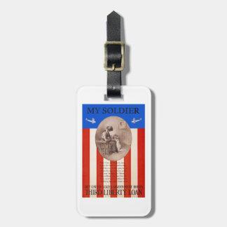 US War Bonds Liberty Loan Prayer WWI Propaganda Bag Tag