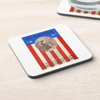 US War Bonds Liberty Loan Prayer WWI Propaganda Coaster