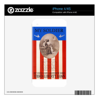 US War Bonds Liberty Loan Prayer WWI Propaganda Decal For iPhone 4S