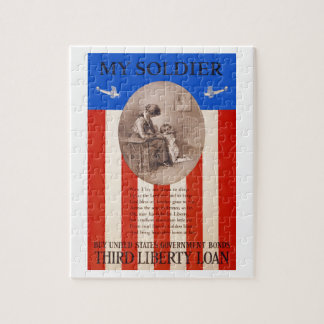 US War Bonds Liberty Loan Prayer WWI Propaganda Jigsaw Puzzle