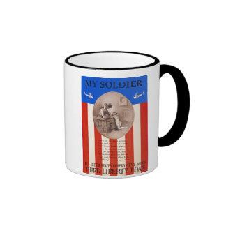 US War Bonds Liberty Loan Prayer WWI Propaganda Ringer Coffee Mug