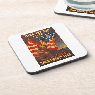 US War Bonds Third Liberty Loan WWI Propaganda Coaster