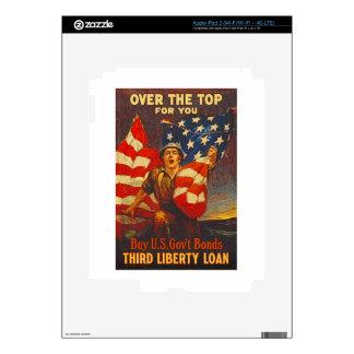 US War Bonds Third Liberty Loan WWI Propaganda Decal For iPad 3