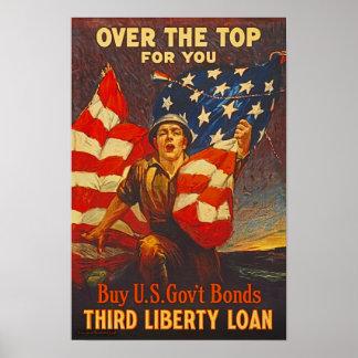 US War Bonds Third Liberty Loan WWI Propaganda Poster