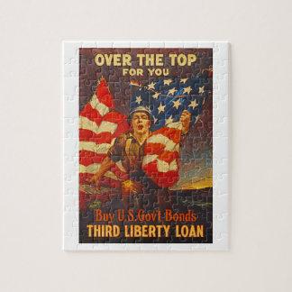 US War Bonds Third Liberty Loan WWI Propaganda Puzzle