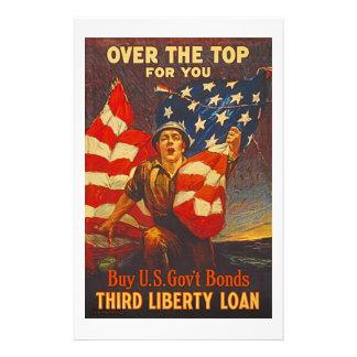 US War Bonds Third Liberty Loan WWI Propaganda Stationery